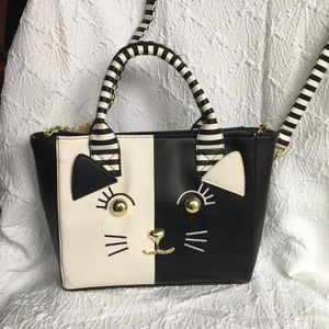 Betsey Johnson medium cat Crossbody Bag